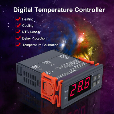 Digital Temperature Controller 220V 10A NTC LCD Thermostat for Refrigerator Farm