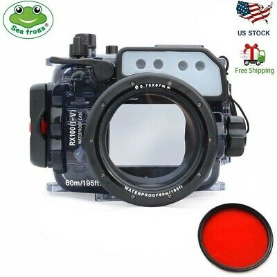 Seafrogs 60m/195ft Waterproof Underwater Camera Housing Case for Sony RX100 I-V