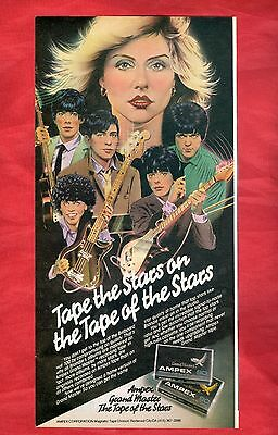 1979 Ampex Grand Master Cassette Ad Clipping Featuring Deborah Harry Blondie