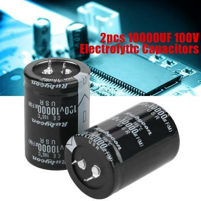 2pcs Wholesale 10000uF 100V Electrolytic Capacitor 105℃ 35X50mm