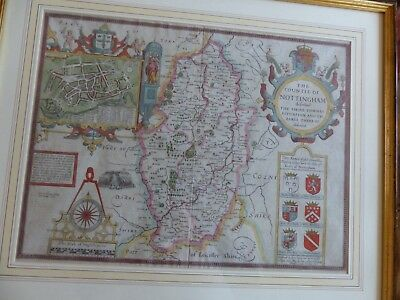 A map of Nottinghamshire by John Speed 1627