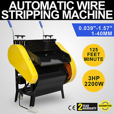 Automatic Wire Stripping Machine with Foot Pedal Copper Protable Cable Stripping