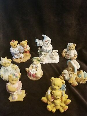 Lot Of 8 CHERISHED TEDDIES See Description