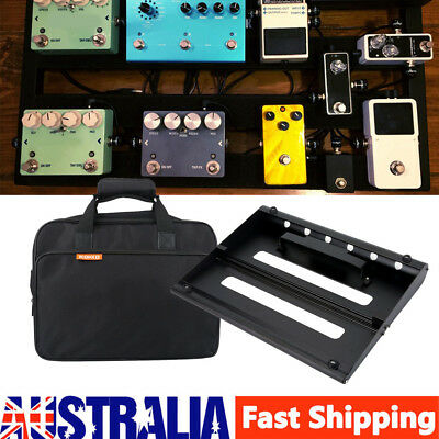 35*28cm Large Guitar Effect Pedal Board Pedalboard Bridge with Padded Carry Bag