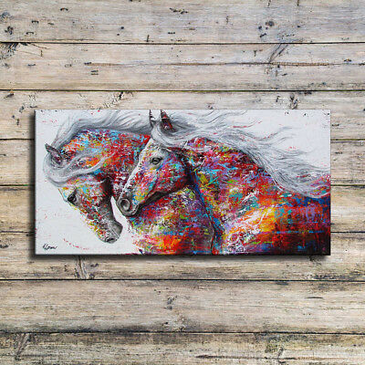 Modern Horses Canvas Print Wall Painting Poster Art Home Decor Unframed Supreme