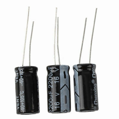 3 x 2200UF 16V 105C Radial Electrolytic Capacitor 10x20mm M5A5 M8T5