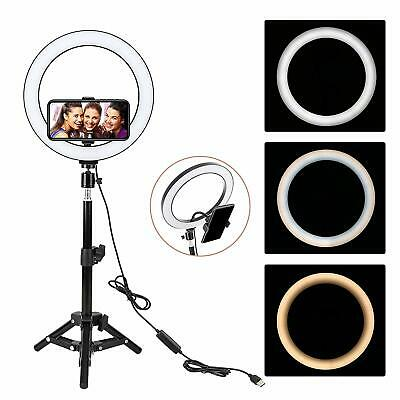 "Zomei LED Ring Light 10"" Tabletop light Dimmable lighting for Camera Photography"