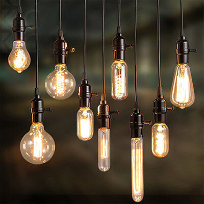 Vintage Retro Filament Edison Antique Industrial Style Lamp Light Bulb 40W E27 D