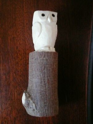 Arts & Crafts Exquisite Hand Carved Owl Robert Thompson Mouse Man Interest