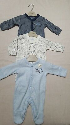 NEW ⭐Bnwt NEXT Baby Boys Newborn 0-1 9-12-18-24 Animal Sleepsuits/Babygrows