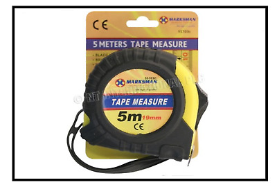 5 Metre Marksman Tools Tape Measure Different Lengths Auto Lock Rubberized