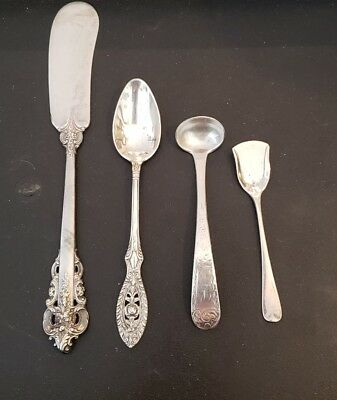 LOT ASSORTED Antique/Vintage STERLING SILVER FLATWARE PIECES