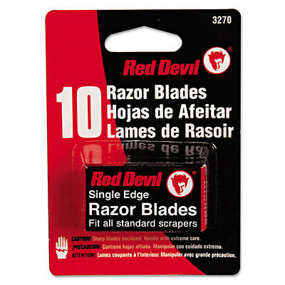 Red Devil Single Edge Scraper Razor Blades 2 Packs Of 5 Blades 3270