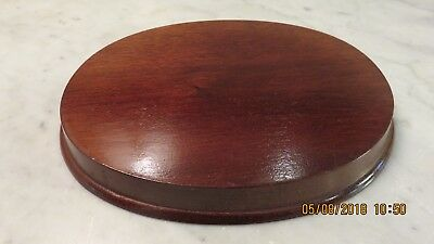 """Wood Display Base for Figurines - Oval - 7"""" (17.78 cm)"""