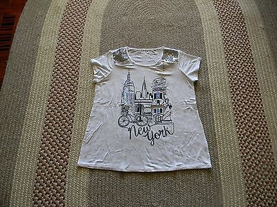 Nwt Justice Girls Black Silver Sequins New York Top 18