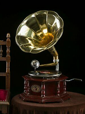Reproduction Gramophone Player ~ Record Player - 78 rpm vinyl phonograph