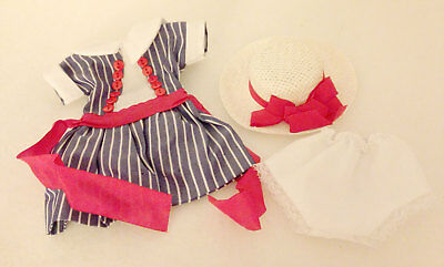 Madame Alexander Lissy Outfit Red White and Blue Dress with Hat Panties