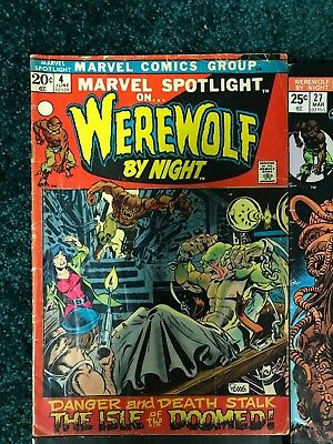 Lot of  8 Tomb of Dracula - Werewolf by Night