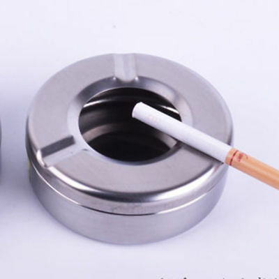 Stainless Steel Cigarette Ashtray Smokers Ash Container Tobacco Tray for home