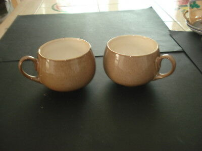 PAIR of MATCHING VINTAGE DENBY POTTERY MUGS VGC