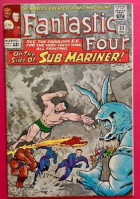Fantastic Four #33 (1964) Sub-Mariner and the first appearance of Attuma!