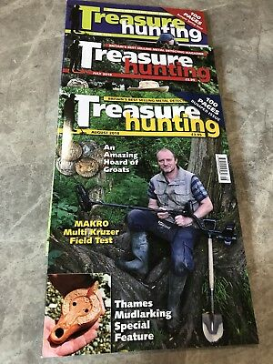 Treasure Hunting Metal Detecting Magazine June, July, August 2018 editions