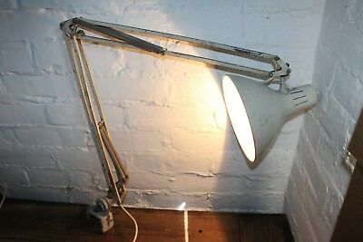 Industrial Vintage 1950/60s desk clamp mounted 'anglepoise' lamp 1001 lamps ltd