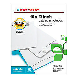 Office Depot Clean Seal(TM) Catalog Envelopes, 10in. x 13in., 30% Recycled,