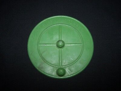 Vintage Daisy Green Rubber Sink Drain Stopper Huntington Indiana 1930's