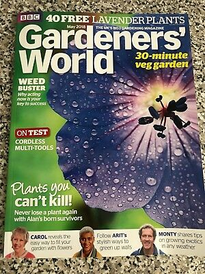 BBC GARDENERS' WORLD ISSUE MAY 2018 - Does Not Inc 2 for 1 Card