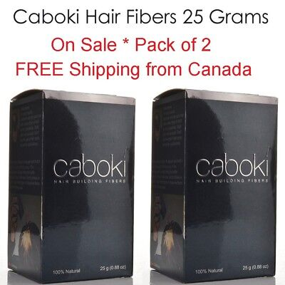2 Pack Caboki Hair Building Fiber 25 Grams - Fast and Free shipping Canada