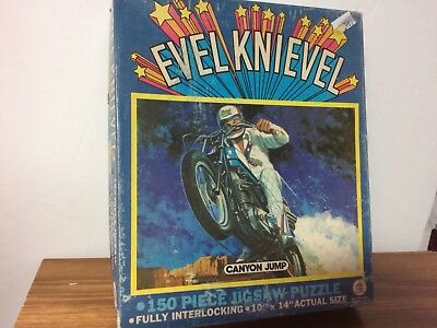 1974 Evel Knievel HG Toys Canyon Jump Puzzle Complete! Vintage