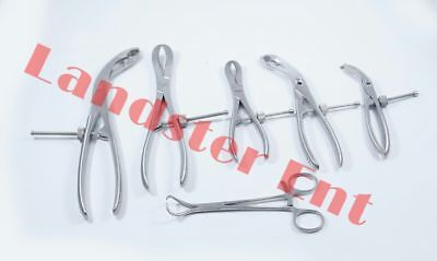 Set of 6 PCs Bone Reduction Forceps, Self Centering, Bone Holding Orthopedic INS