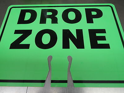 Safety Green Drop Zone Cone Topper