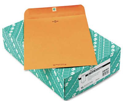 Quality Park Clasp Envelope Recycled 10x13 28lb Kraft 100/Box 38197 CASE of 5 bx