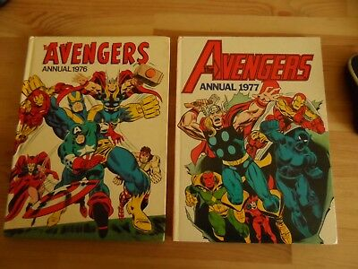 THE AVENGERS ANNUALS 1976 and 1977 RARE MARVEL ANNUALS
