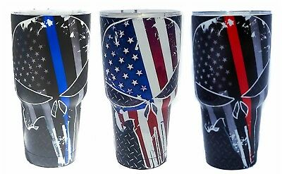 Punisher 30 oz Stainless Steel Vacuum Insulated Tumbler with Lid - FREE SHIPPING
