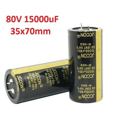 1x 80V 15000uF Amplifier Audio Power Filter Electrolytic Capacitor 105°C 35x70mm