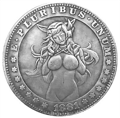 Lucky Devil Morgan Dollar Good Luck Texas Holdem Poker Card Guard Protector