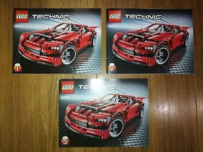 Lego Technic 8070 Super Car Instruction Books Only Brand New 2 Of 2