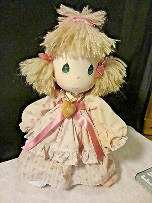 Precious Moments Doll  ~ Pink dress friendship  with stand