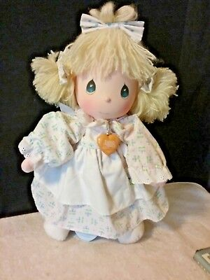 Precious Moments Doll ~ Blond Blue eyes  Vintage 80's