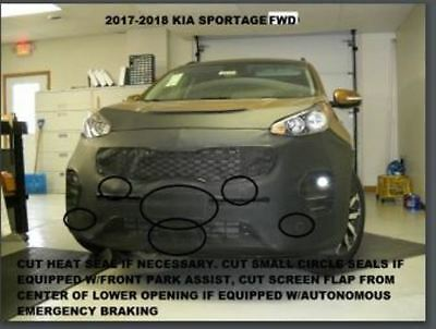 Lebra Front End Mask Cover Bra Fits KIA SPORTAGE FWD 2017-2019 Front Wheel Dr.