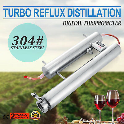 Stainless Steel Condenser Distillation System Thermometer Reflux Alcohol Making