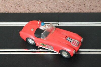 Vintage Scalextric Triang Ac Cobra C78 Car Red Good Working Condition