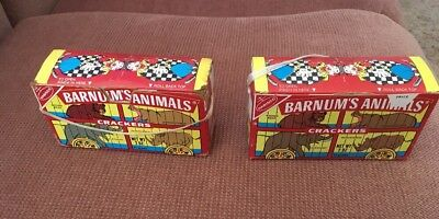 Vintage Nabisco Barnum's Animals Crackers Boxes-1972,1987-Great Collectibles!!