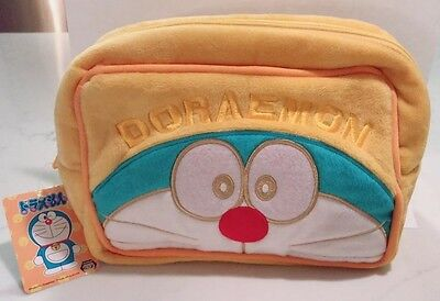 "US Seller Sega Authentic Doraemon Face Big Pouch 9X6"" yellow rare"