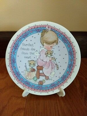 Precious Moments Purr-fect Friends Are From the Heart Plate 1992