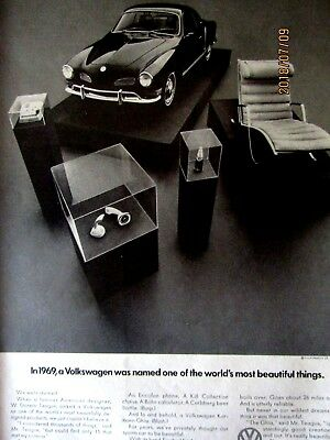 1969 Volkswagen Karmann Ghia-World's Most Beautiful Things Oiginal Print Ad