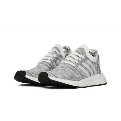 online store 849b4 0dcc3 Men Adidas NMD R2 Primeknit Running White/Core Black BY9410 SIZE 9.5 US